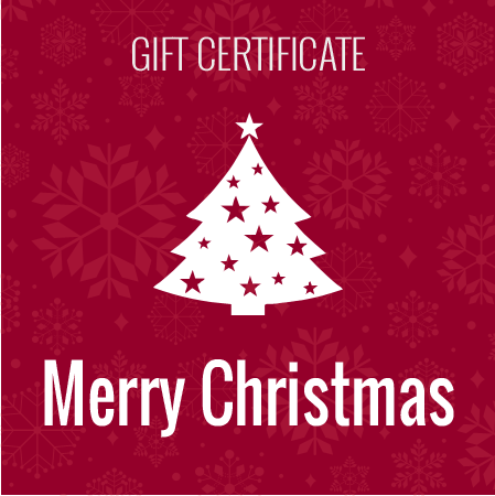 Merry Christmas - Gift Certificate